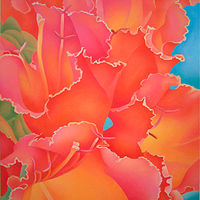 Acrylic painting Tulipan by Anne Popperwell
