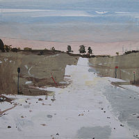 Acrylic painting Trail, February 11 by Harry Stooshinoff
