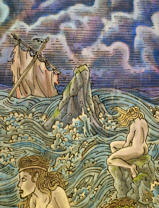 """the Siren's song"" detail by Kenneth M Ruzic"