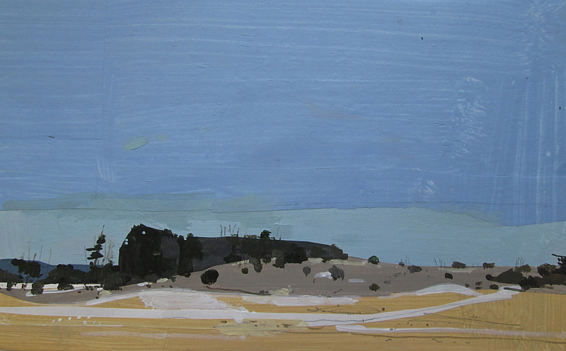 Acrylic painting Lost Dog Hill, February 13 by Harry Stooshinoff