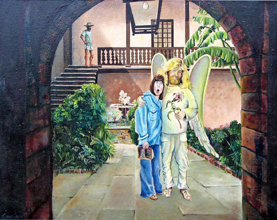 Oil painting the annunciation by Diana Lynn
