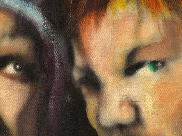 Oil painting xy detail by Diana Lynn