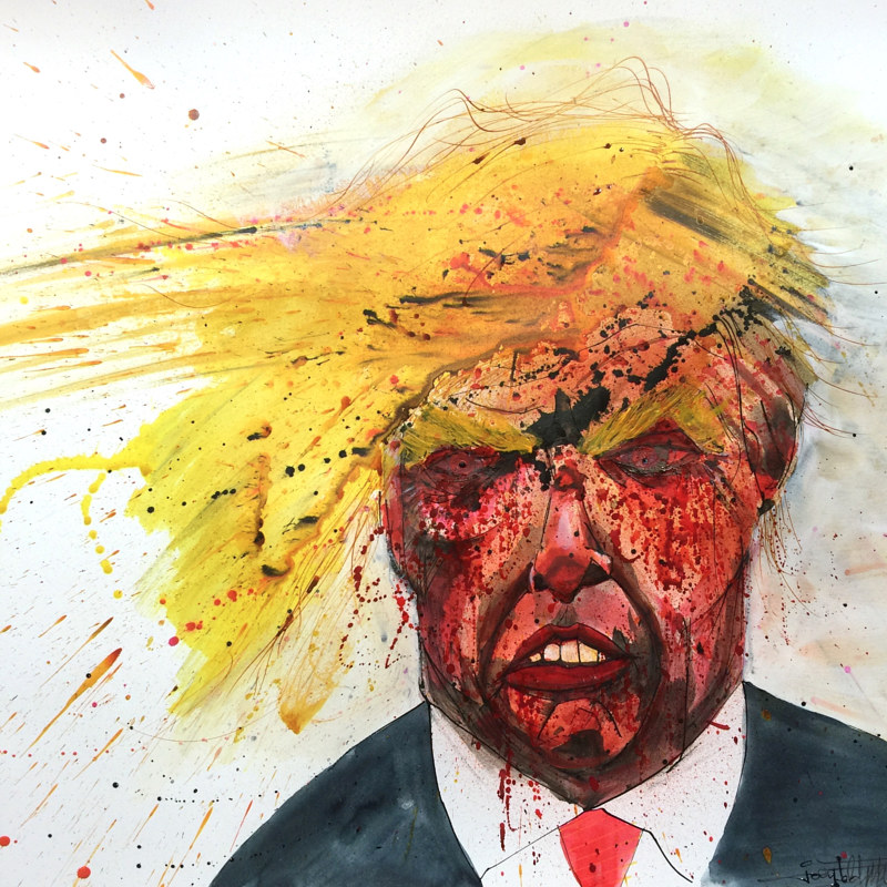 Mixed-media artwork trump by Joey Feldman