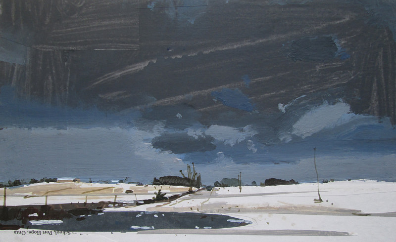 Acrylic painting After the Ice Storm by Harry Stooshinoff