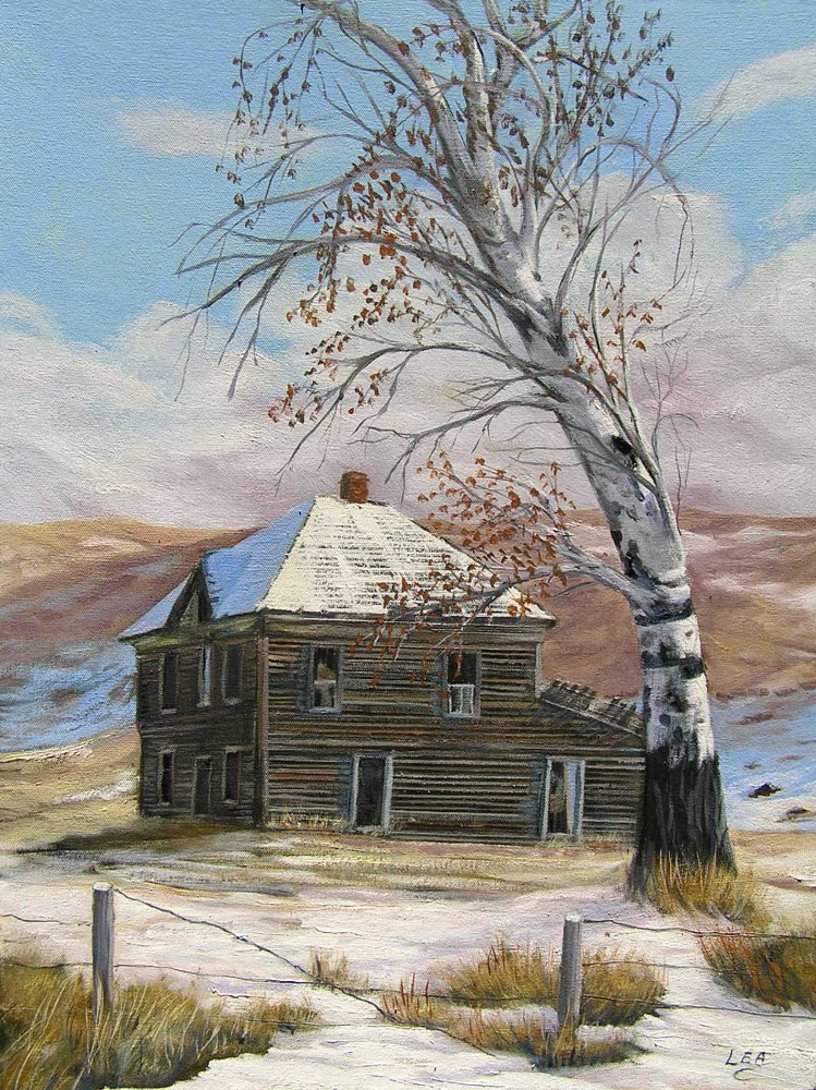 Oil painting This Old House by Cecilia Lea