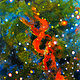"Oil painting ""DNA Nebula"" by Patricia Sollows"