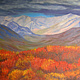 Oil painting Scarlet Legacy - Dempster Highway, Yukon by Cecilia Lea