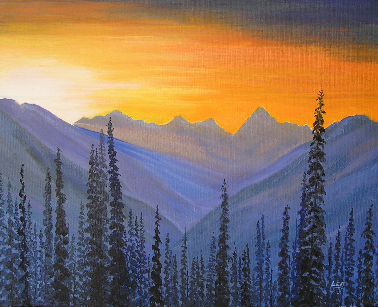 When the Sun Says Hello to the Mountains  by Cecilia Lea