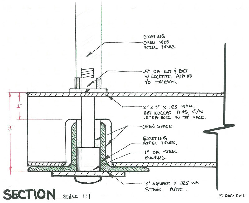 East Village Mobile- custom beam- detail drawing by John Greg Ball