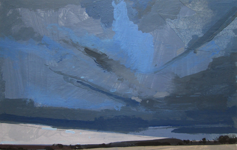 Acrylic painting East Sky, March 13 by Harry Stooshinoff