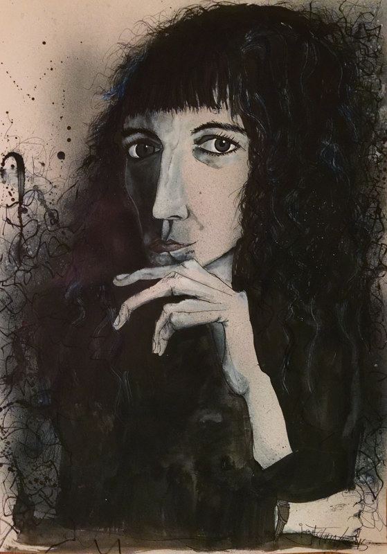 Mixed-media artwork pattismith by Joey Feldman
