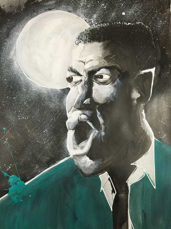 Mixed-media artwork howlinwolf by Joey Feldman