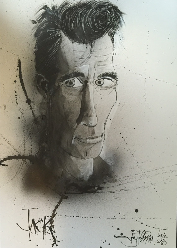Drawing jackkerouac by Joey Feldman