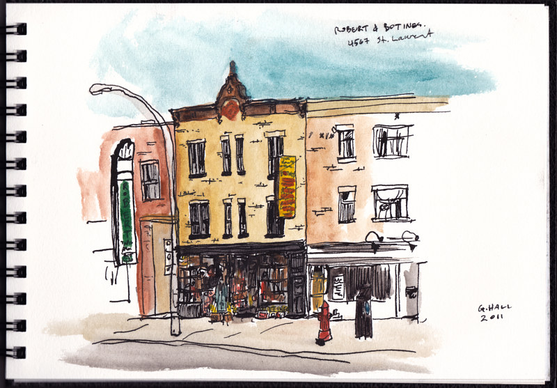 Drawing Boul. St. Laurent, Botines by Graham Hall