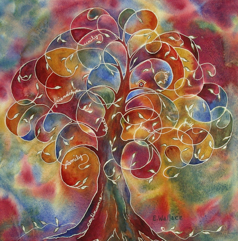 Watercolor Tree of Life by Vicki Allesia