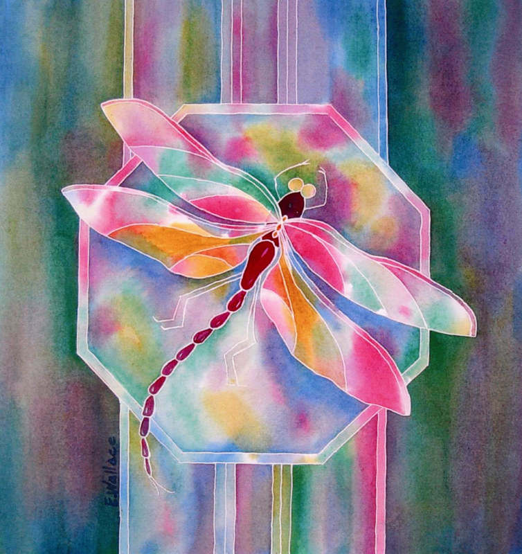 Watercolor Dragonfly by Vicki Allesia