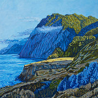 Oil painting The Lost Coast by Crystal Dipietro