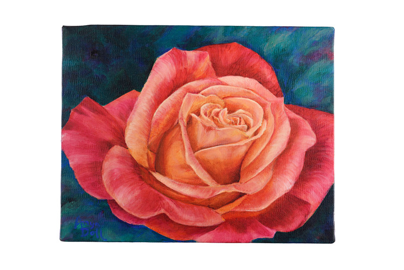 Acrylic painting Rose by Anya Doll