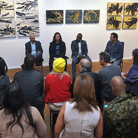 Artists Q & A at Gallery 19 by Robert Porazinski