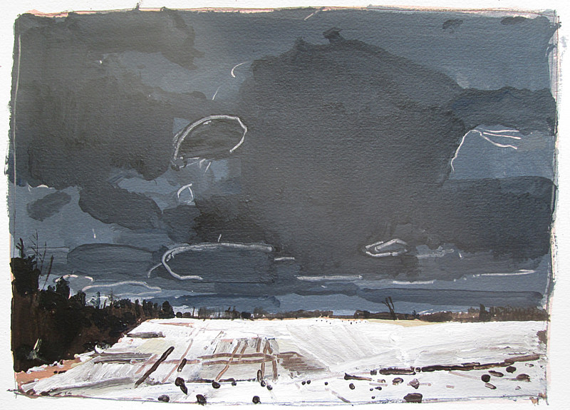 Acrylic painting Ice Field, March 25 by Harry Stooshinoff