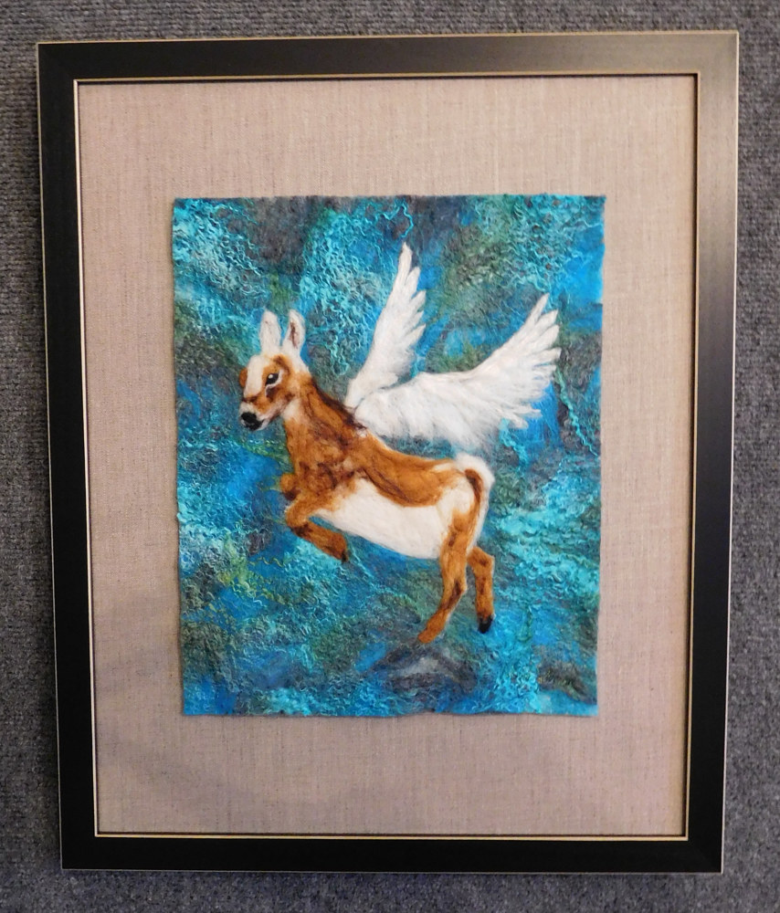Winged Goat by Valerie Johnson