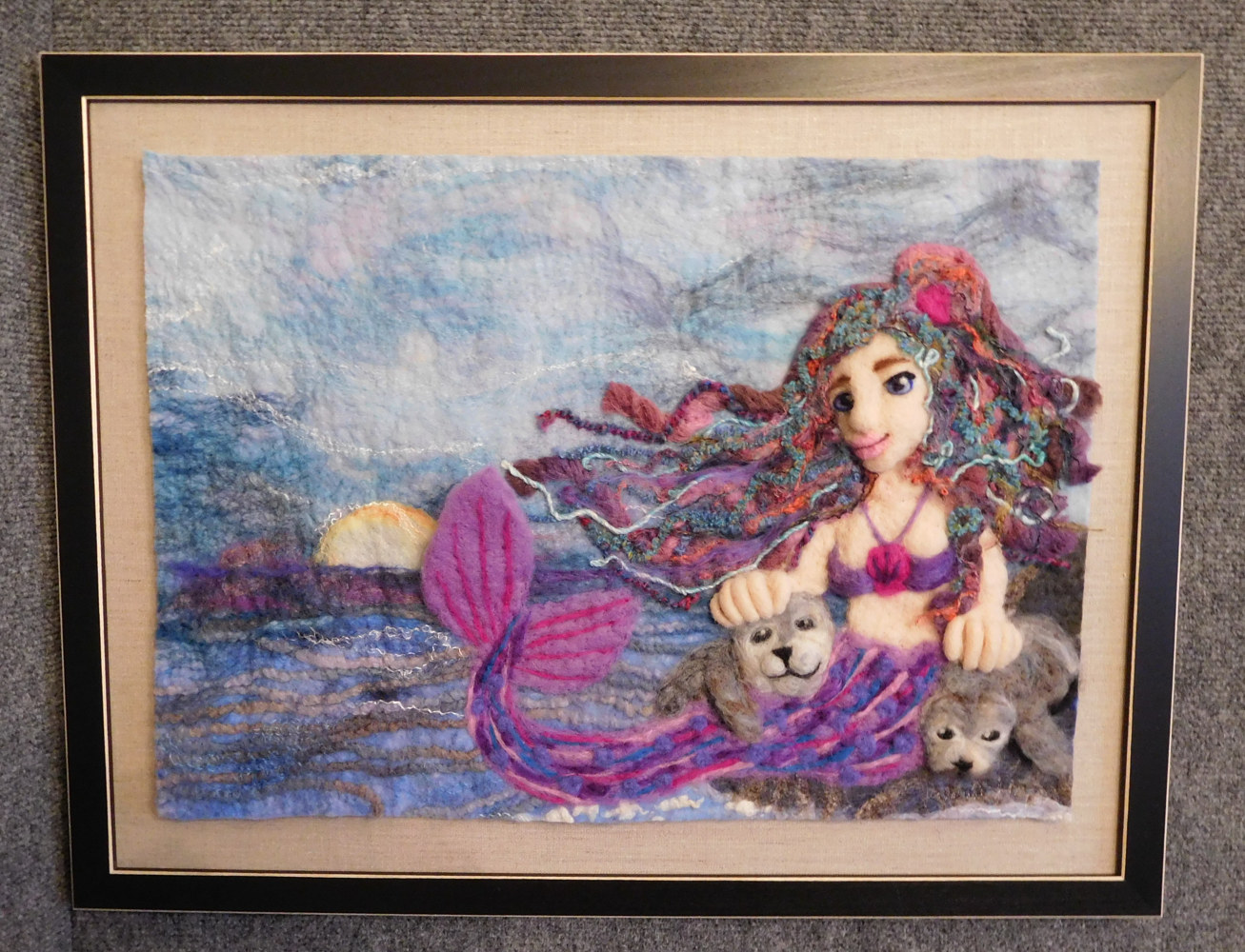 Mermaid with seals by Valerie Johnson