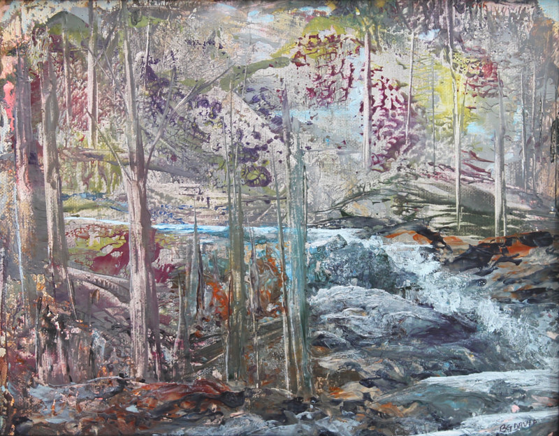 Acrylic painting The Falls by Vicki Allesia