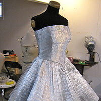 Chameleon Dress in progress by Angela Dale