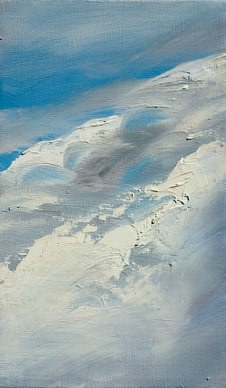 Oil painting Cloud surfing by Laurie Cochrane