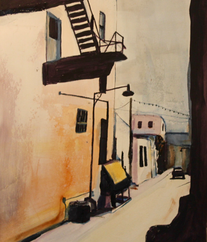 Mixed-media artwork Alley  by Steve Latimer