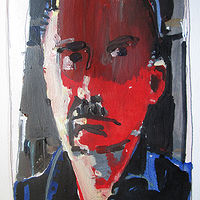 Acrylic painting April Self by Harry Stooshinoff