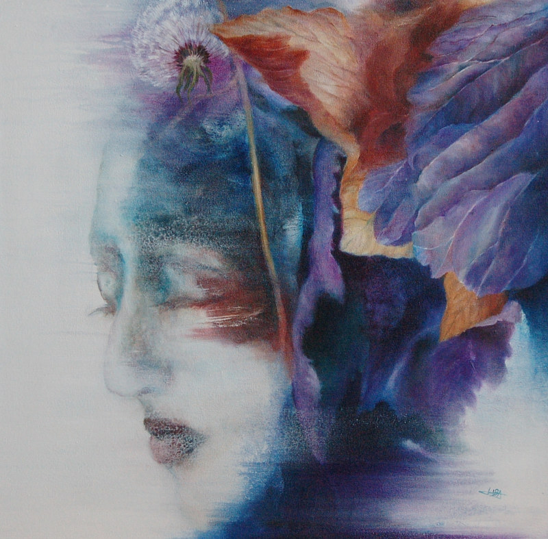 Oil painting The Lady of Time by Liba Labik