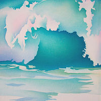 Painting Wave/Baja by Anne Popperwell