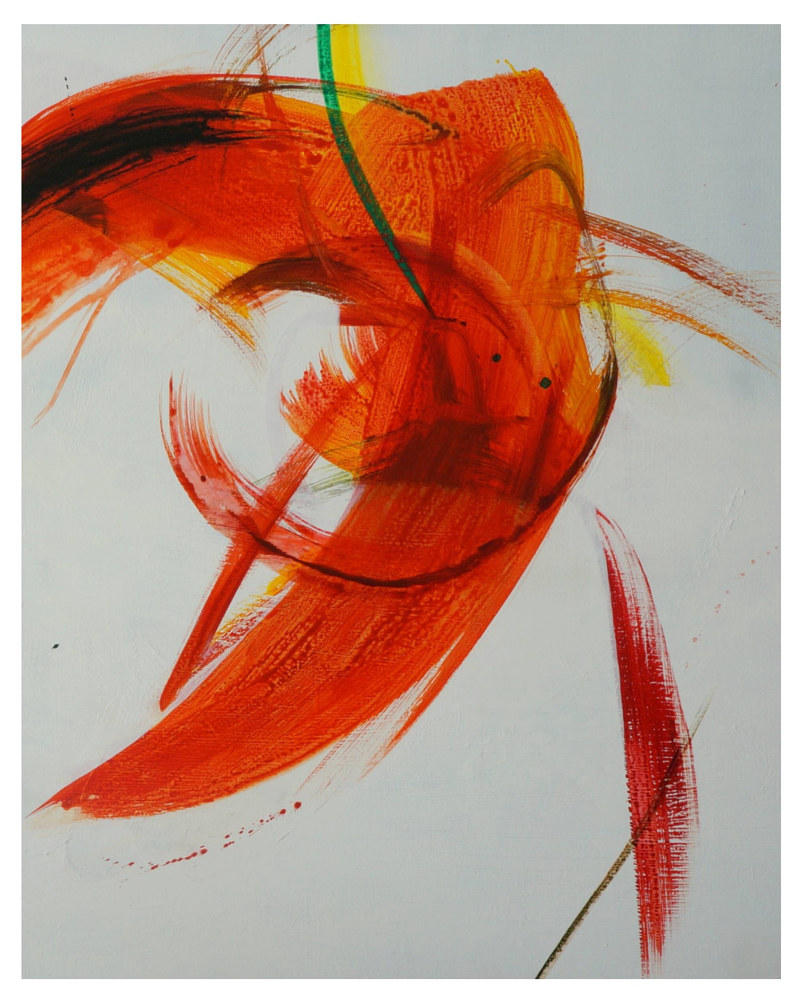 Acrylic painting movement by Eunice Sim