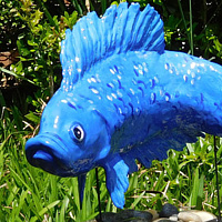 Sculpture Blue Beta by Valerie Johnson