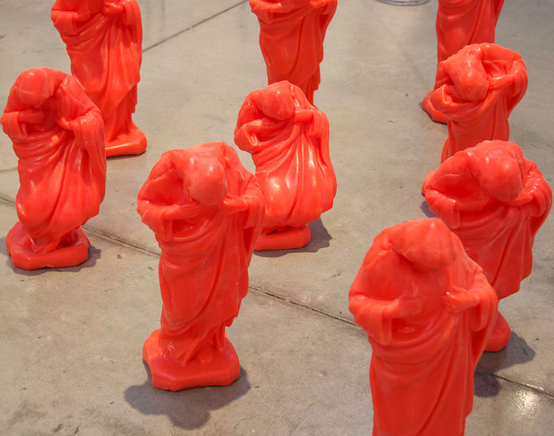 10 Orange Jesus - Part of the Holy Archetype Series by Magali Hebert-Huot