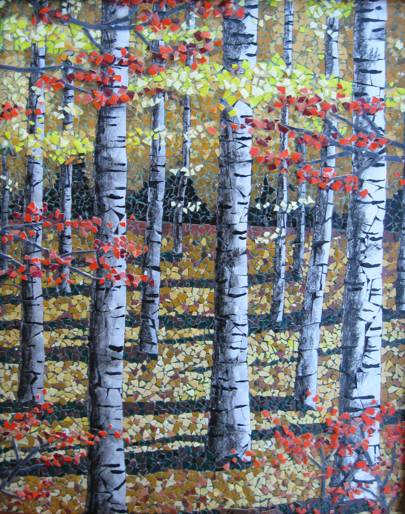 Birches by Linda Biggers