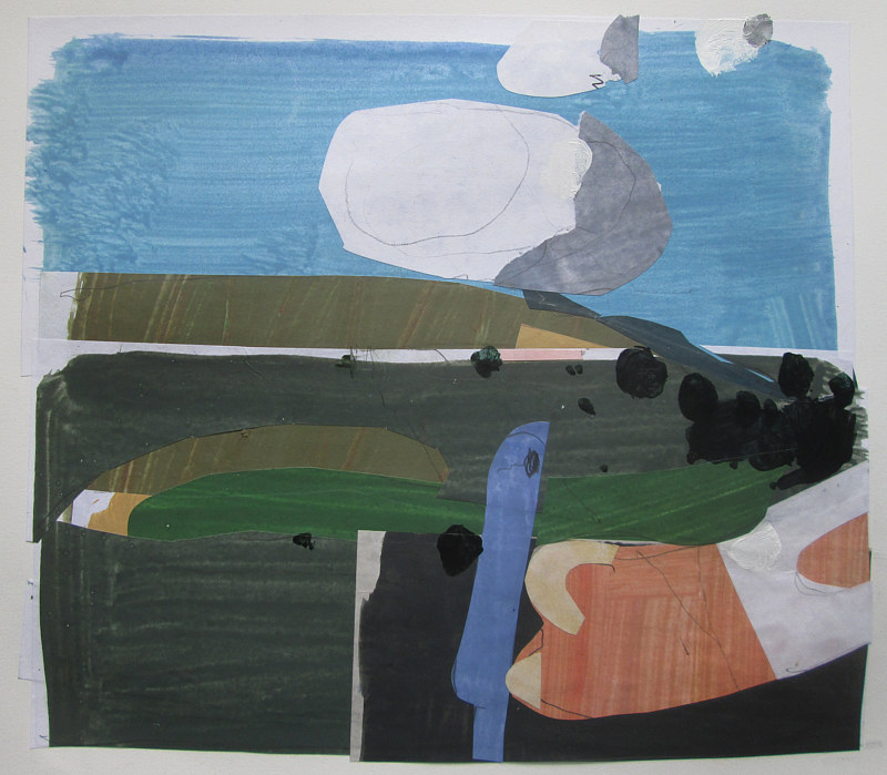 Acrylic painting May 1968, On Crocus Hill by Harry Stooshinoff