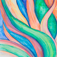 Watercolor Leaves by Danielle Scott