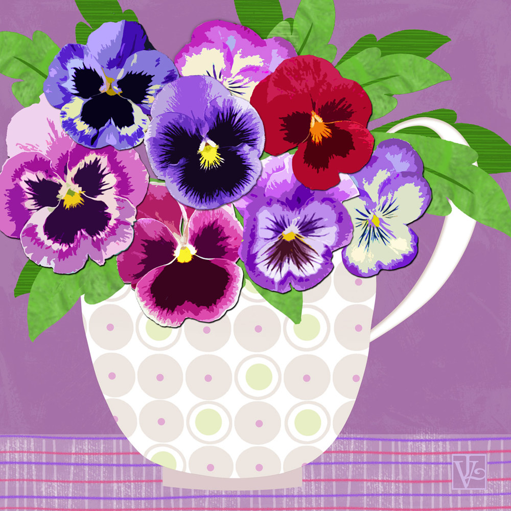 Pansies Stand for Thoughts by Valerie Lesiak