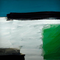 Acrylic painting Vital Gesture #11 by David Tycho