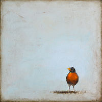Acrylic painting Mama Robin by Sally Adams