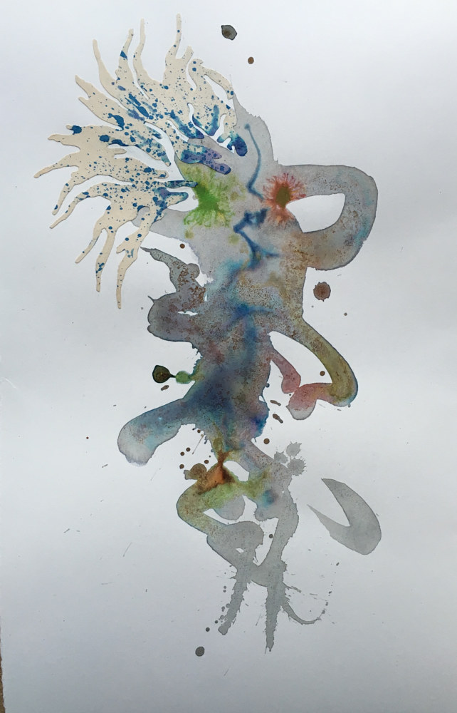 Watercolor Dancer 2 by Mark Garrett