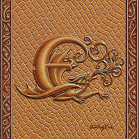 Draco Token E, Gold on Gold by Sue Ellen Brown