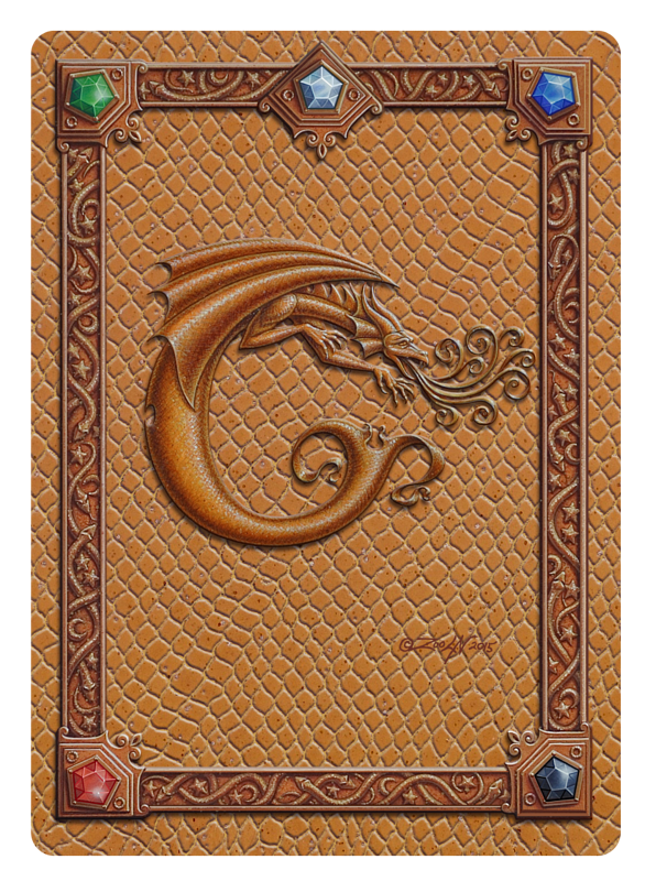 Draco Token C, Gold on Gold by Sue Ellen Brown