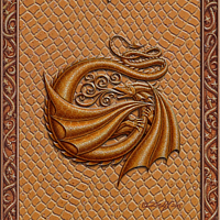 Draco Token G, Gold on Gold by Sue Ellen Brown