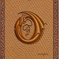Draco Token O, Gold on Gold by Sue Ellen Brown