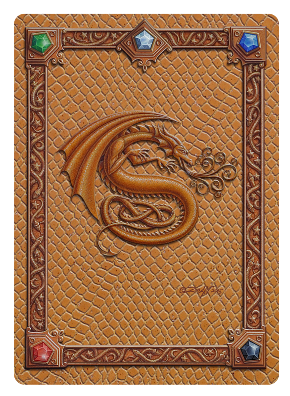 Draco Token S, Gold on Gold by Sue Ellen Brown