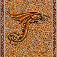 Draco Token T - 3.0, Gold on Gold by Sue Ellen Brown
