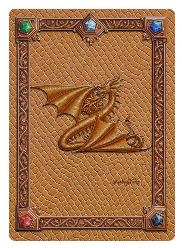 Draco Token Z, Gold on Gold by Sue Ellen Brown
